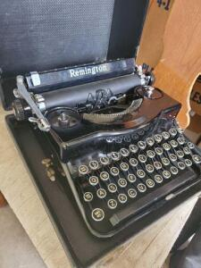 Vintage Remington typewriter in case