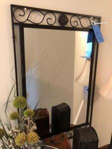 "Metal framed Wall mirror (22""x34"")"