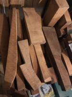 LARGE LOT OF CURLY MAPLE AND WALNUT - 2