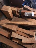 LARGE LOT OF CURLY MAPLE AND WALNUT - 5