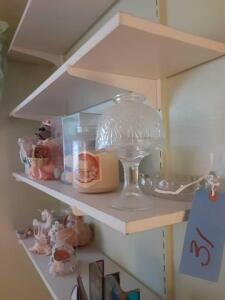Shelf Of Various Hand Crafted treasures