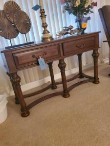 "Ashley signature design sofa table - 18"" d x 29"" h x 51"" w - contents not included"