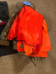 Lot of miscellaneous hunting jackets with Exxon gear