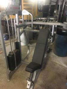 Life Fitness incline chest/shoulder press