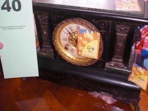 Seth Thomas classical case mantle clock with key and pendulum