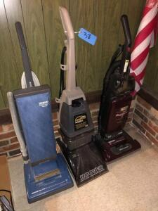 2 vacuums and steam vac