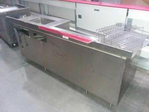 Metal kitchen table 86.5x30.875