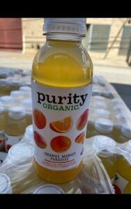 10 Cases of Purity Organic Orange Mango Paradise - 12 bottles per case - Retails $360