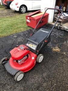 Troy-Bilt 21in push mower - 6.75 hp - only used a few times - with bagger