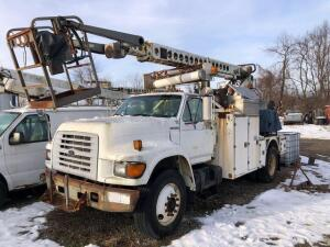 1998 Ford F-Series F800 cable service truck - telsta T40 boom - VIN: 1FDXf80e0wva38892 - diesel - meter reads 144,902 miles - with on an generator