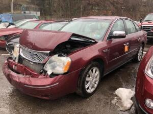 MAROON, 2005, FORD/FIVE HUNDRED, 1FAFP28165G190387