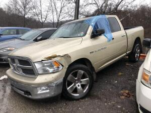 GOLD, 2011, DODGE/RAM PICKUP, 1D7RV1GT3BS519135, LKM 133,019