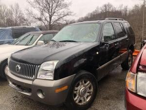 BLACK, 2004, MERCURY/MOUNTAINEER, 4M2ZU86K54ZJ50491, KEYS/RUNS, 144,031