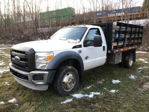 2011 Ford F-450 super duty - 6.7L Diesel Engine - 12ft stake body - 93,726 miles - VIN: 1FDUF4gt3beb07973 -