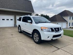 2012 Nissan Armada Platinum edition - 4x4 - fully loaded - 146,000 miles - hitch - inspected - Recon title