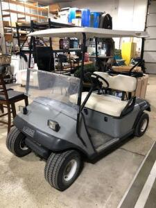 E-Z-Go textron golf cart - medalist - gas - front windshield- headlights and taillights
