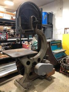 Large industrial band saw - 16in throat - 32in x 32in table