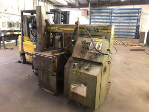 Hyd-mech vertical automatic band saw - H-14 - buyer will need to bring something to load