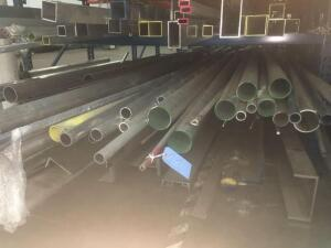 Lot of aluminum round tube and pipe 6061, lengths 8-21'