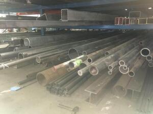 Lot of steel round tube and pipes. Lengths 8-21'
