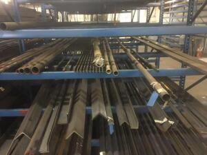 Lot of misc. round tube, flat bar and bar grating. Lengths 8-24'