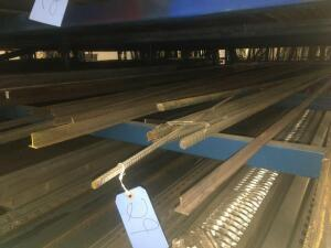 Lot of steel rebar, t-bar, galvanized flat bar/angles. Lengths 10-24'