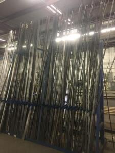 Lot of cold rolled flat and round bar. 6-12'