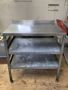 "Work Table - 33"" L x 25"" D x 36"" H"