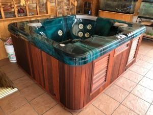 LA Spas 5 person hot tub - 7ft x 76in -with cover - used inside a large great room