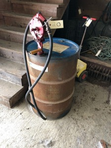 Drum of Diesel with hand pump - approx. 45 gallons