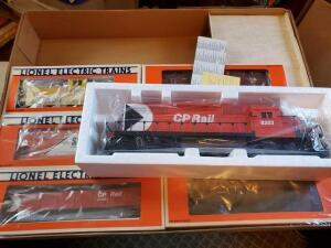 Lionel CP rail limited freight train set- NIB - 5 freight cars - 1 caboose - 1989 - sd40 diesel locomotive