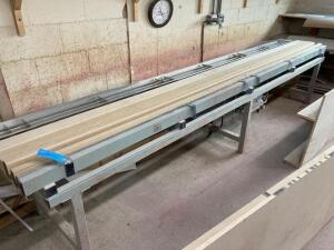 "Laminate air/electric heating table 13'1""W 28""D 30""H With covers - If buyer needs additional time for load out it can be arranged"