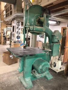 Tannewitz band saw - GHE - SN: 10089 - 37in x 53in table - 3ft throat - If buyer needs additional time for load out it can be arranged