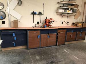 Blum Minipress - with 15ft 8in custom counter and cabinets - contents not included