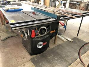 Saw Stop 10in Cabinet Saw - 3ph - 5hp - with 30x85in table