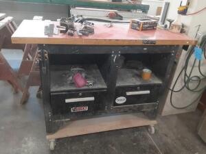 "Work Bench (54"" W x 20"" D x 40"" H) With Dolly Contents Included"