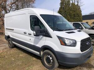 2015 Ford Transit 250 - *RUNS - has NEW BATTERY* - 3.7L engine - 119,648 miles - weather guard shelving and divider with door - VIN: 1FTNR2CM7FKA04484 - *has title*