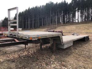 1980 Aluminum drop deck trailer - TI Brook Inc. - dual axle - side tool boxes - 43ft - VIN: 809177 *has title*