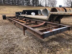 Trailer frame tank dolly - approx. 48 ft - Bill of sale only