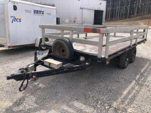 Dual axle trailer - approx. 12 x 6 - removable sides - 10,000 GVWR - VIN: SW64859PA *has title*