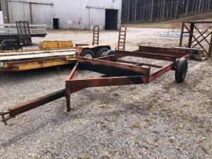 Yard trailer dolly - deck is approx. 12 ft x 6 - bill of sale only