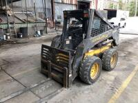 New Holland LS160 Skid Loader - 2650 hours - bucket and forks - reserved for load out