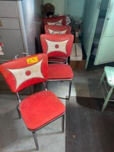 4 kitchen chairs from the 1950s