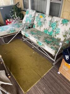 1950s aluminum Glider and lounger - very nice condition
