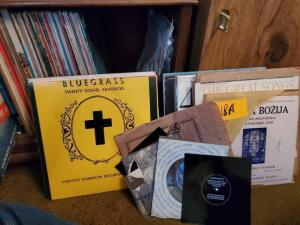 Lot of vintage records - Russian - Christian - plastic