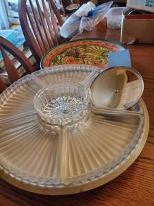 Lazy Susan relish tray - Mexico city platter