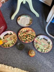 Lot of plates - candle and nesting dolls