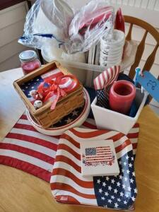 Lot of 4th. Of July and picnic items
