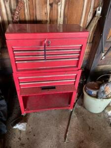 "Tool chest on wheels- contents included-40 ""x 2'"