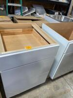 "24 "" grey cabinet with drawers"